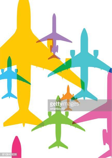 airplanes - air vehicle stock illustrations, clip art, cartoons, & icons