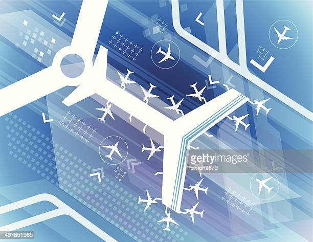 Airport abstract - Illustration