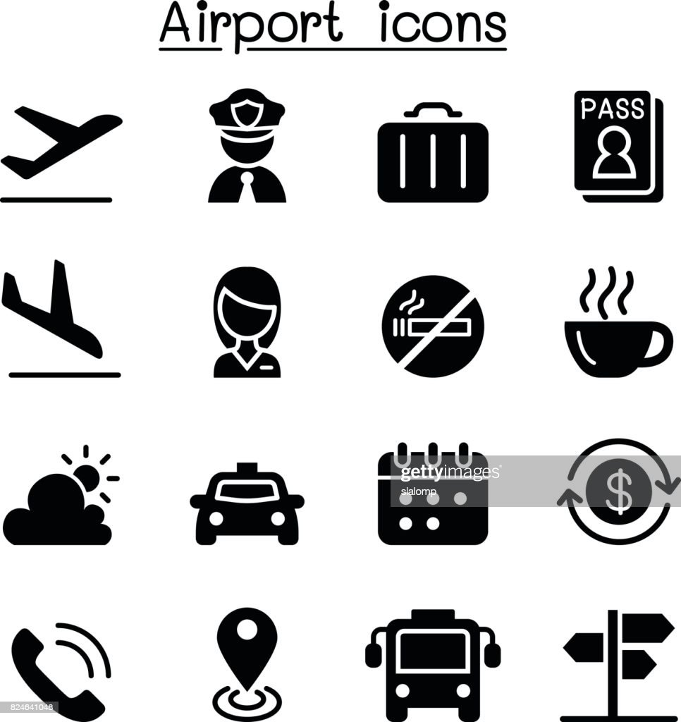 Airport & Aviation icon set vector illustration Graphic Design
