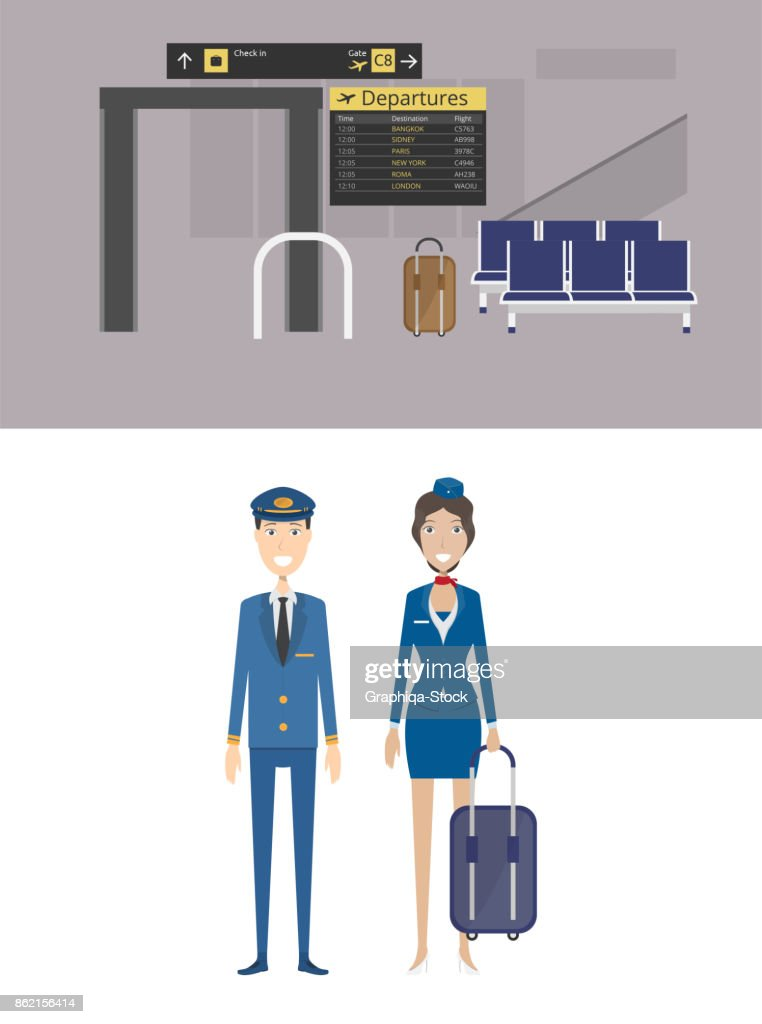 Airport Background and Character Concept
