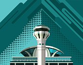 airport building poster
