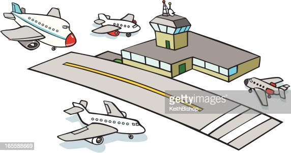 Airport Cartoon Vector... Airport Cartoon Images