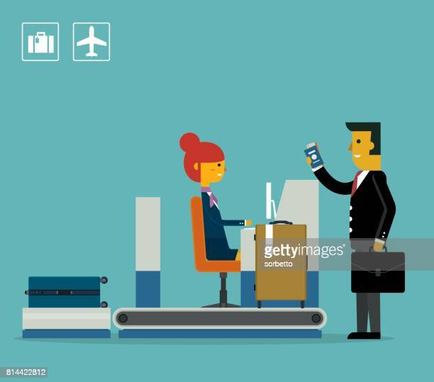 Airport Check-In - Businessman