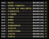 airport flight information display, vacation, vector