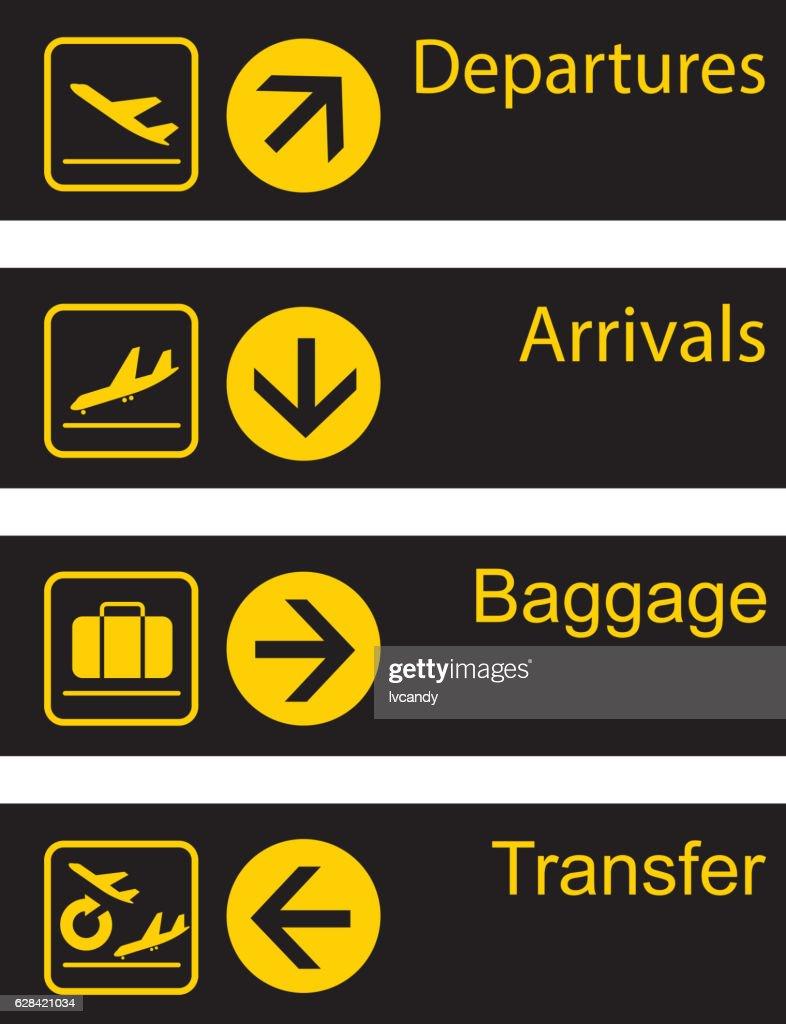 Airport guide board : Ilustración de stock