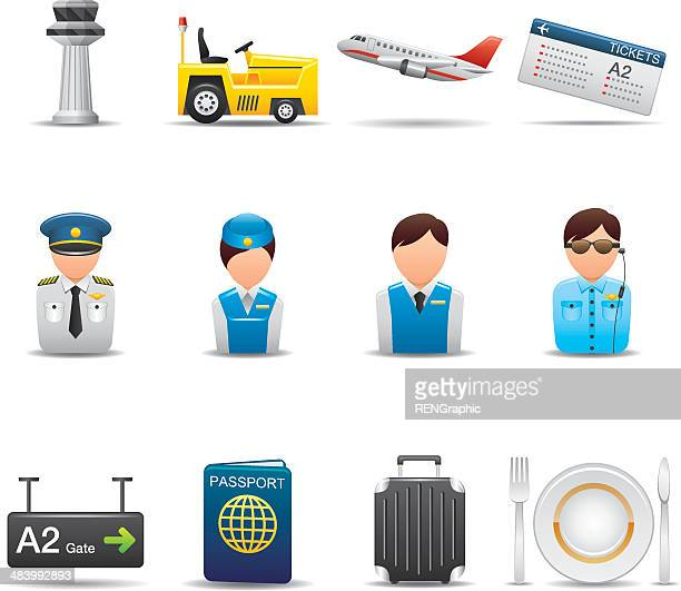 Airport Icon Set | Elegant Series