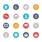 Airport Icons | Multicolor Circle Series