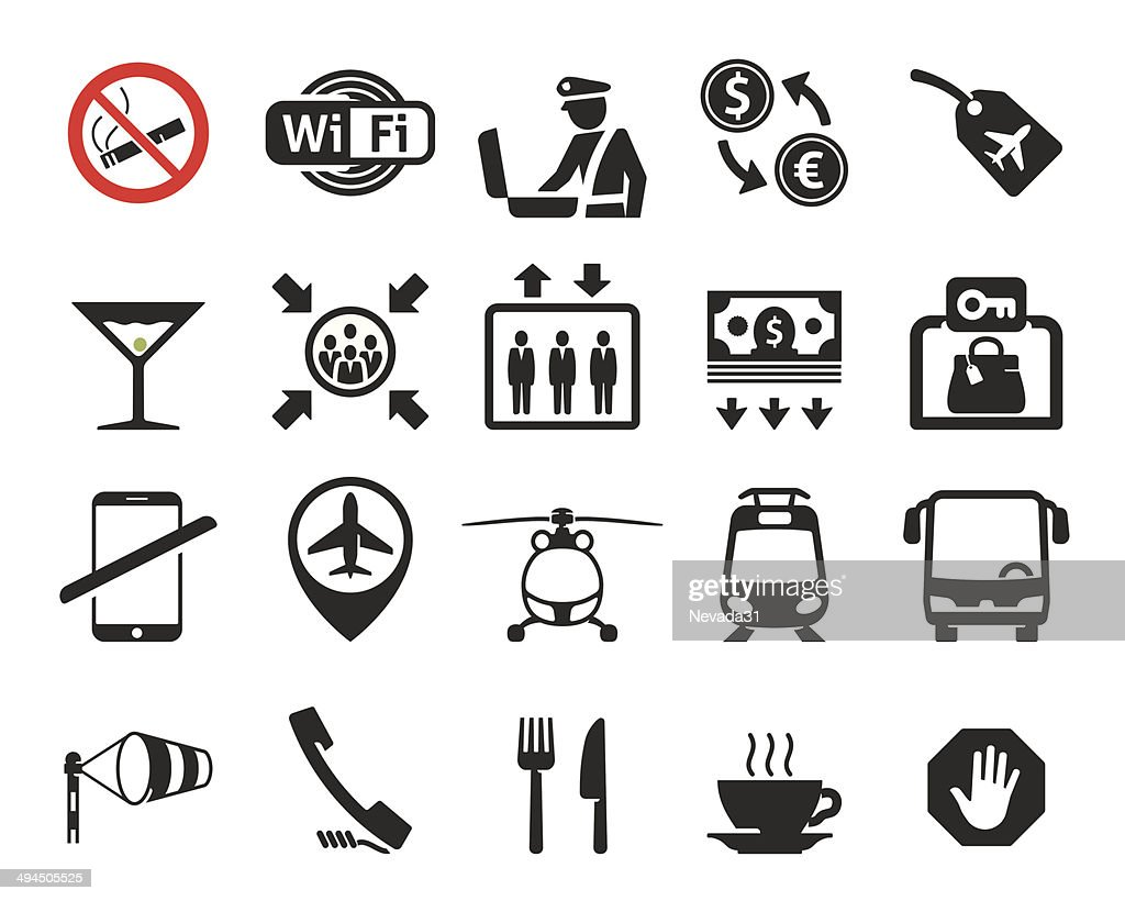 Airport icons set // 03