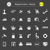 Airport icons .Vector Design