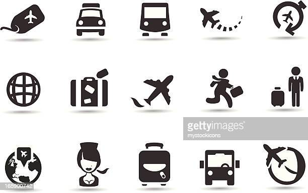 airport icons - luggage tag stock illustrations, clip art, cartoons, & icons