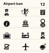 Airport icons,vector