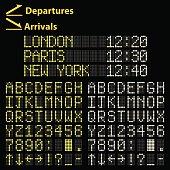 Airport Led Display Font