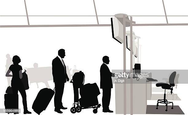 Airport Lines Vector Silhouette