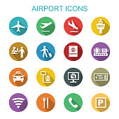airport long shadow icons