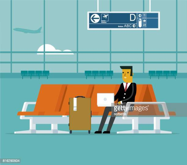 Airport lounge - Businessman