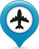 Airport map pointer