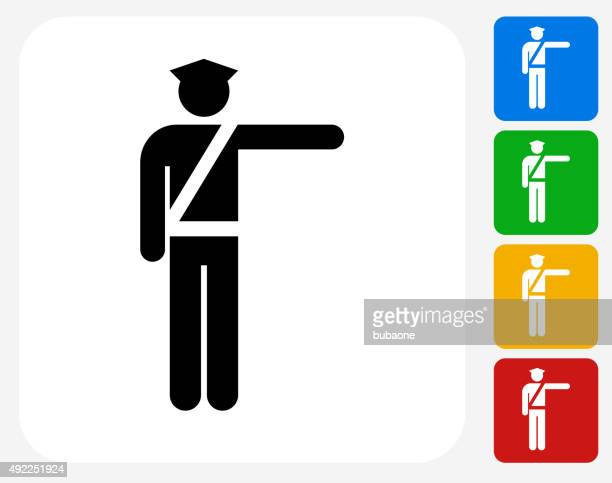 Airport Security Icon Flat Graphic Design