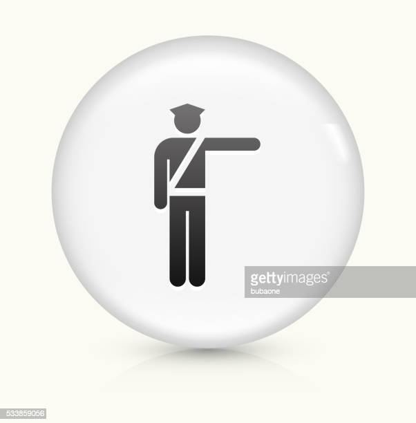 Airport Security icon on white round vector button