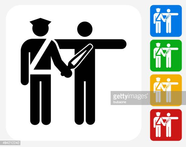 Airport Security Scanning Icon Flat Graphic Design