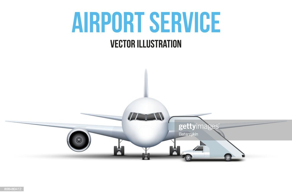 Airport service vector illustration.