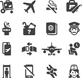 Airport Silhouette icons 1 | EPS10
