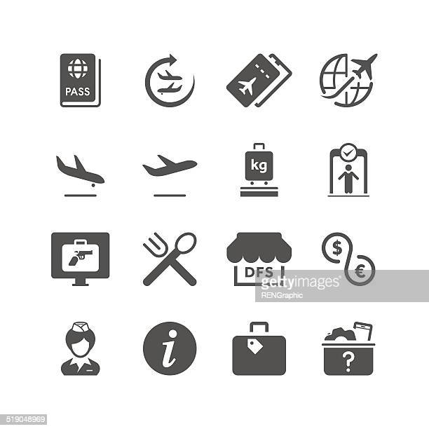 airport | unique series - travel tag stock illustrations, clip art, cartoons, & icons
