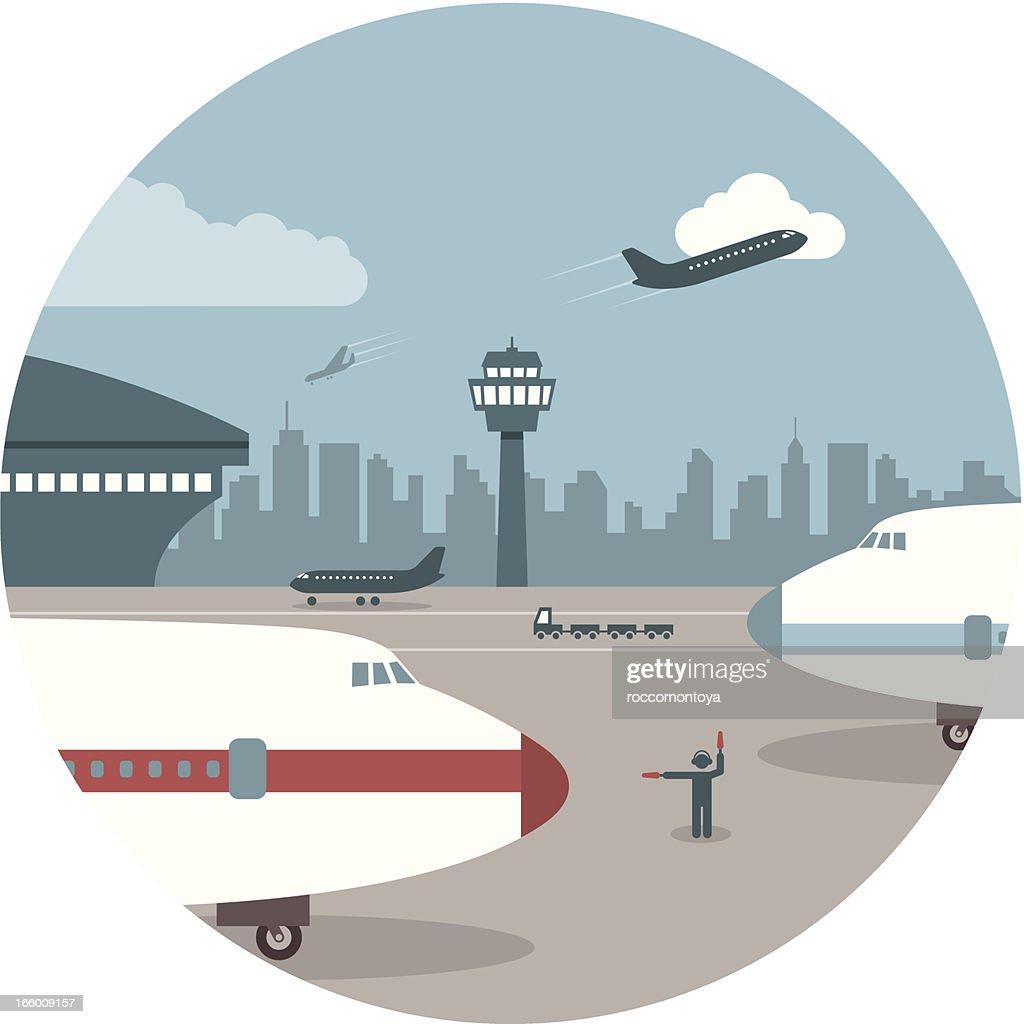 El aeropuerto : Ilustración de stock