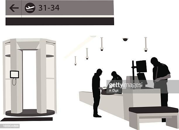 Airport'n Security Vector Silhouette