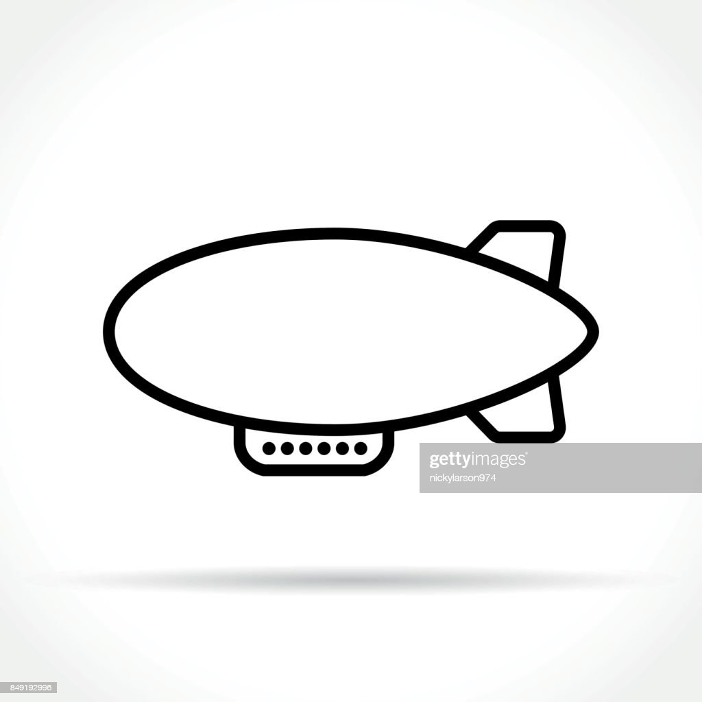 airship icon on white background