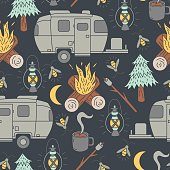 Airstream Camping Pattern