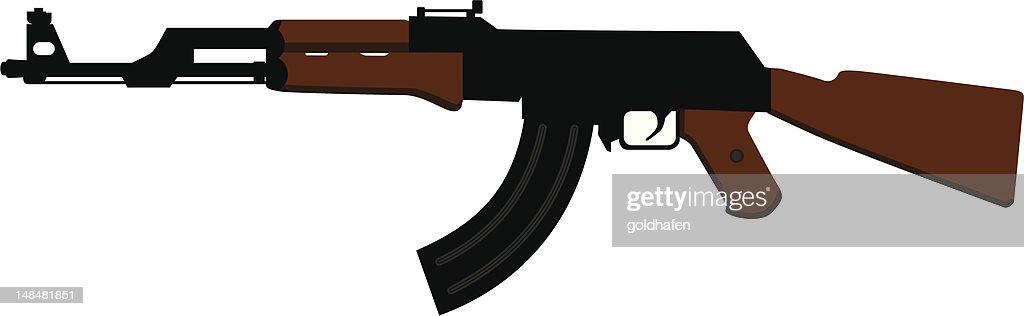 ak 47 atropello del rifle : Ilustración de stock