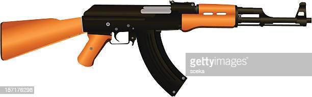 ilustraciones, imágenes clip art, dibujos animados e iconos de stock de ak-47 - ak 47