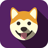 Akita animal face icon