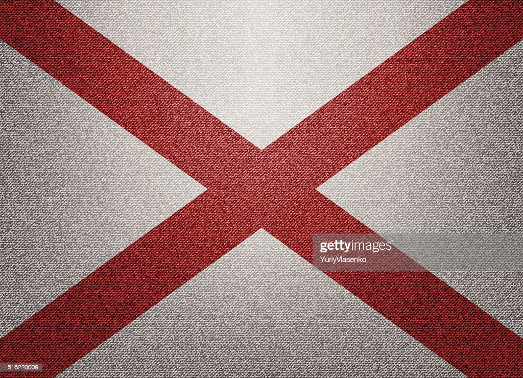 Alabama denim flag