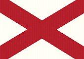 Alabama flag cardboard