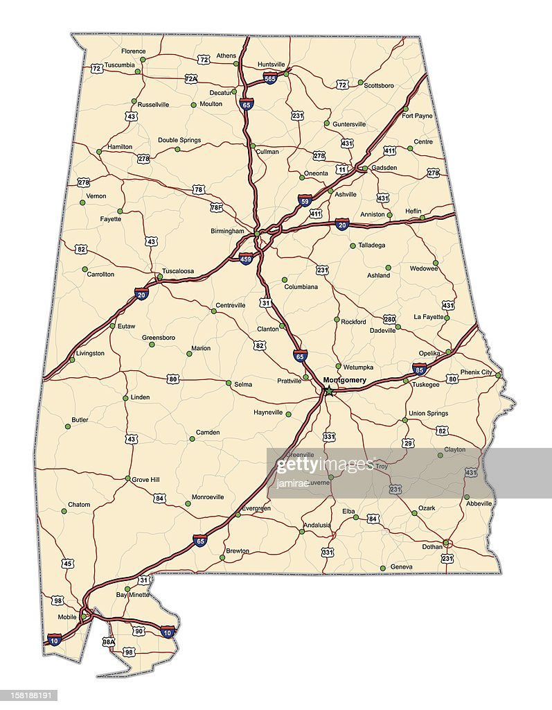 Alabama Highway Map