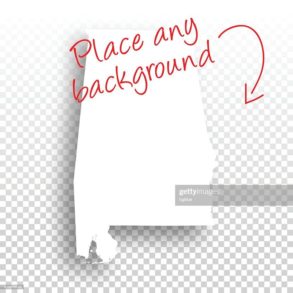 Alabama Map for design - Blank Background