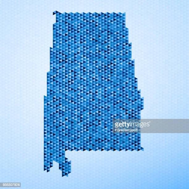 Alabama Karte Dreieck Muster Blau
