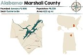 Alabama: Marshall county map