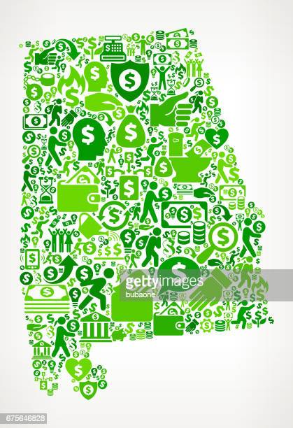 alabama money and finance green vector icon background - mobile alabama stock illustrations, clip art, cartoons, & icons