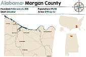 Alabama: Morgan county map