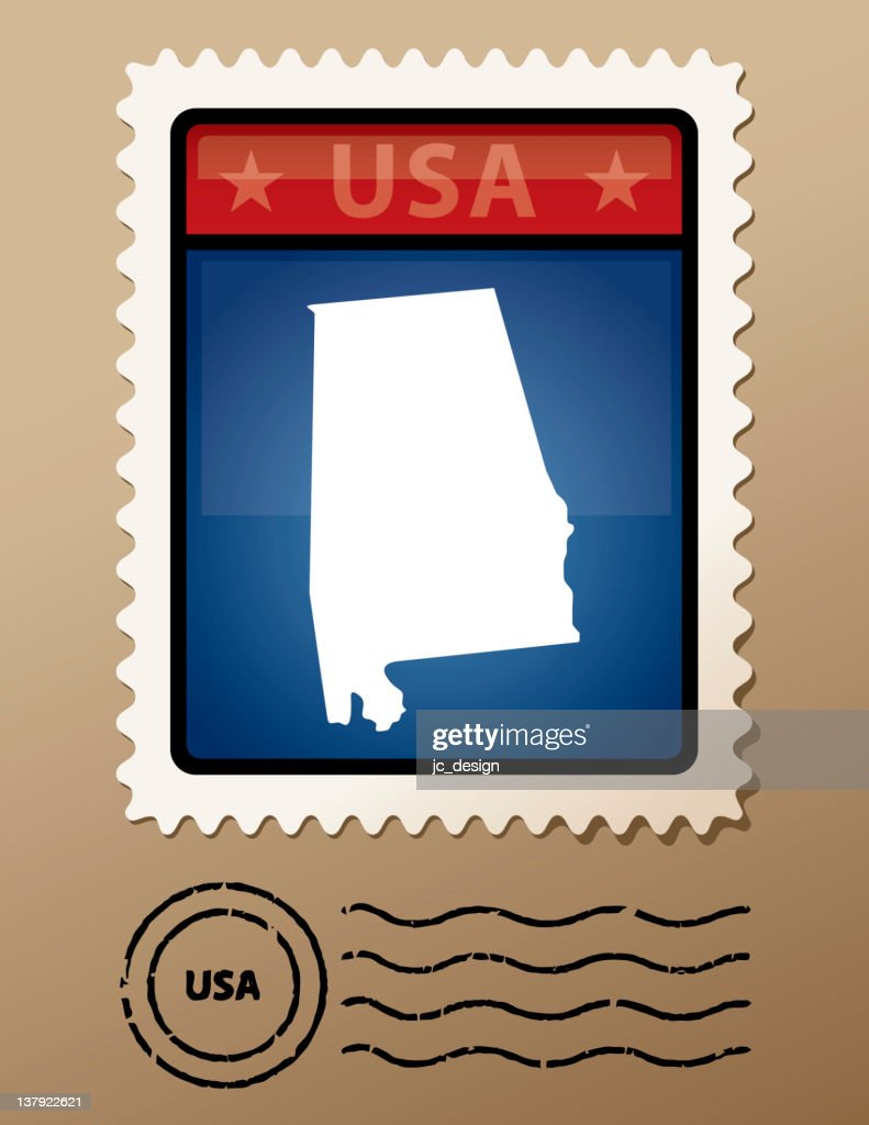 USA Alabama postage stamp
