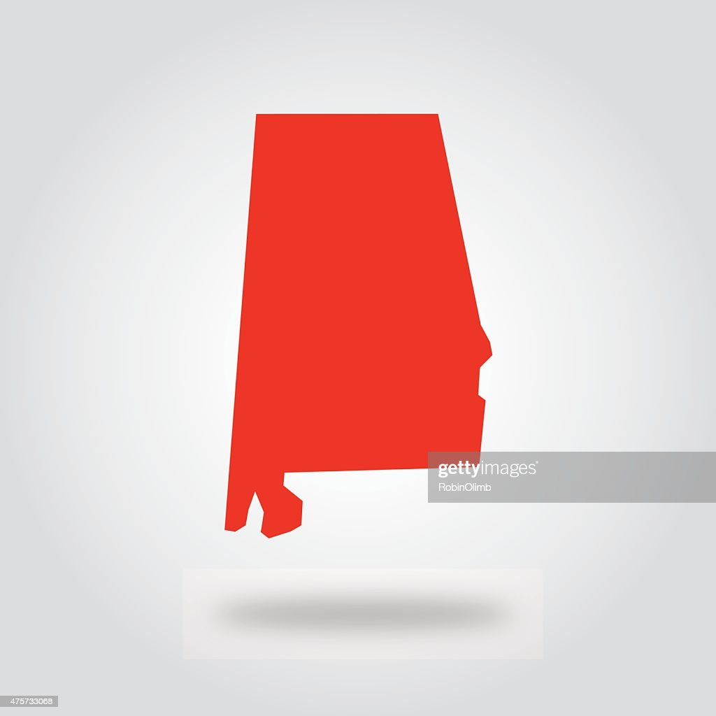 Alabama Red State Icon