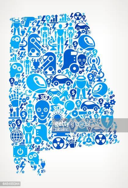 bildbanksillustrationer, clip art samt tecknat material och ikoner med alabama robotar och robotics automation mönster - alabama