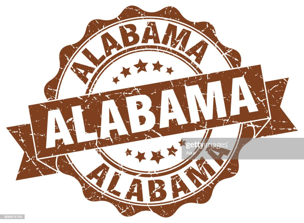 Alabama round ribbon seal