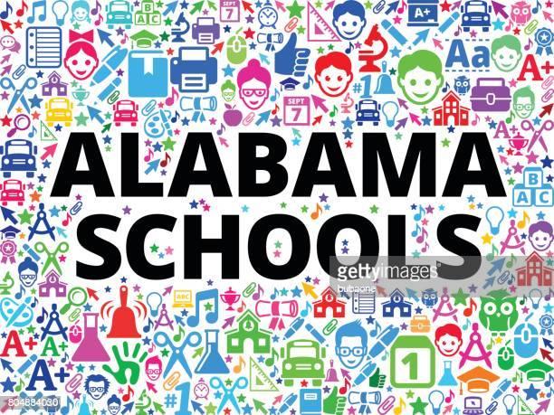 ilustrações, clipart, desenhos animados e ícones de escola de escolas de alabama e fundo do ícone educação vector - alabama football