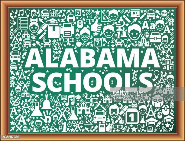 ilustrações, clipart, desenhos animados e ícones de alabama escolas escola e educação vetor ícones na lousa - alabama football