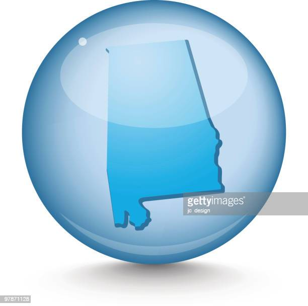 alabama - sphere state series - alabama stock illustrations, clip art, cartoons, & icons