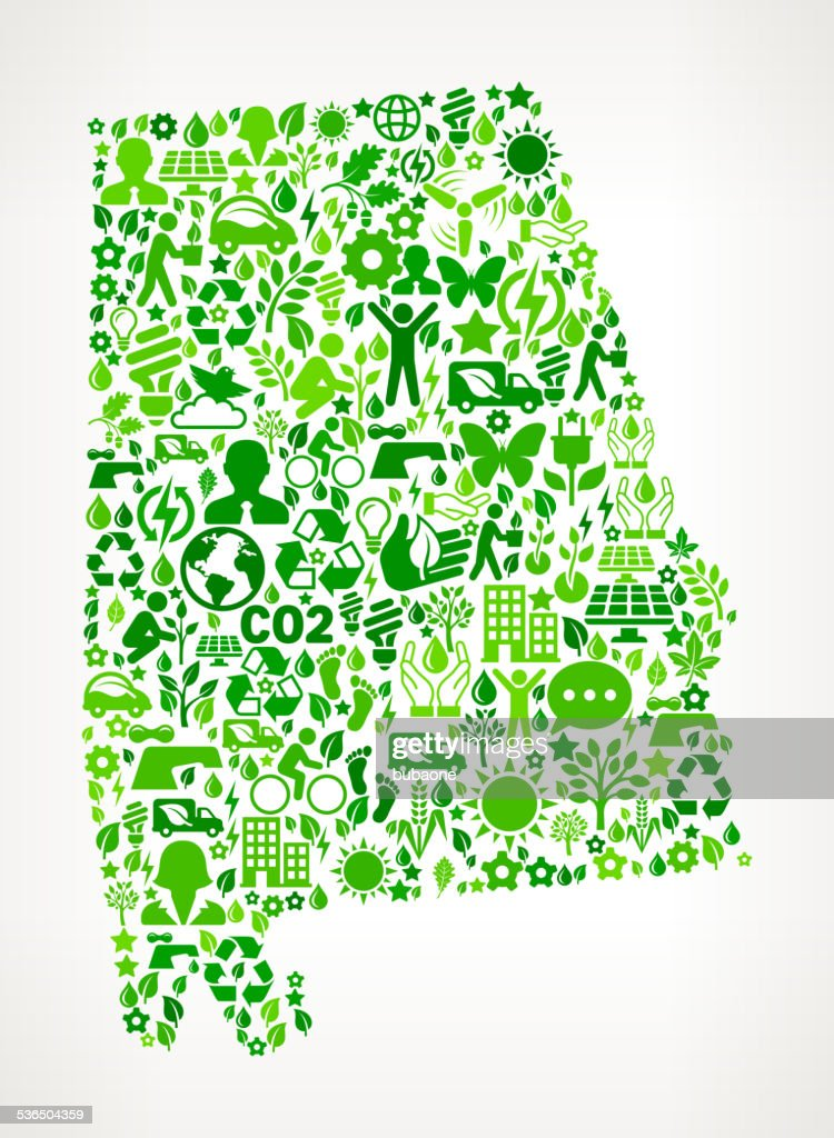 Alabama State Environmental Conservation and Nature interface icon Pattern