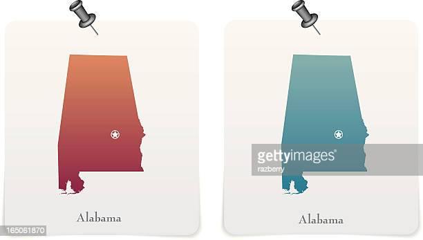 Alabama state Rote und blaue Karten